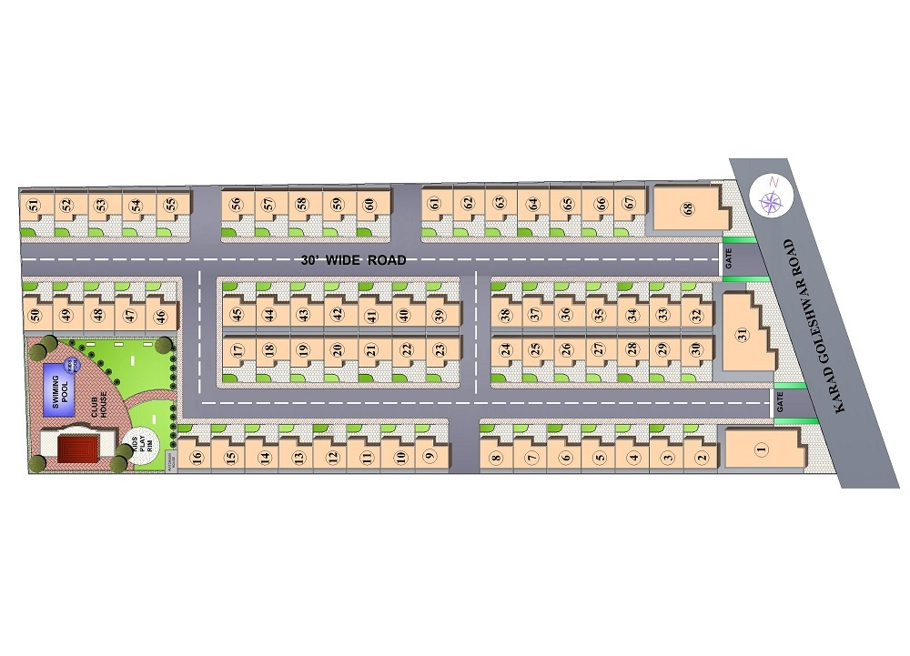 Site plan for Maya Elite County | Kachchhi Constructions
