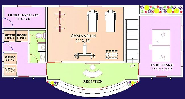 Clubhouse - Ground Floor Plan