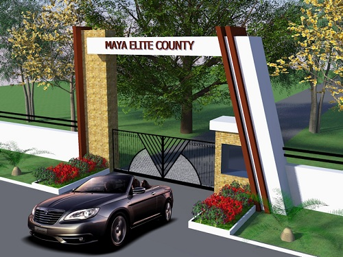 Entrance Gate Design | Maya Elite County